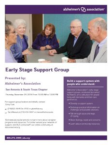 Support Group for Alzheimer's Caregivers and those living with an Alzheimer's diagnosis.